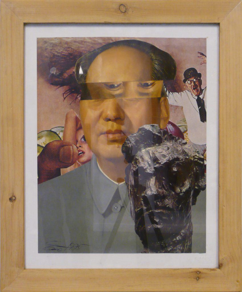 """Erró, """"Mao"""", 1975 - collage sur papier - Collection Géotec, achat 2007"""