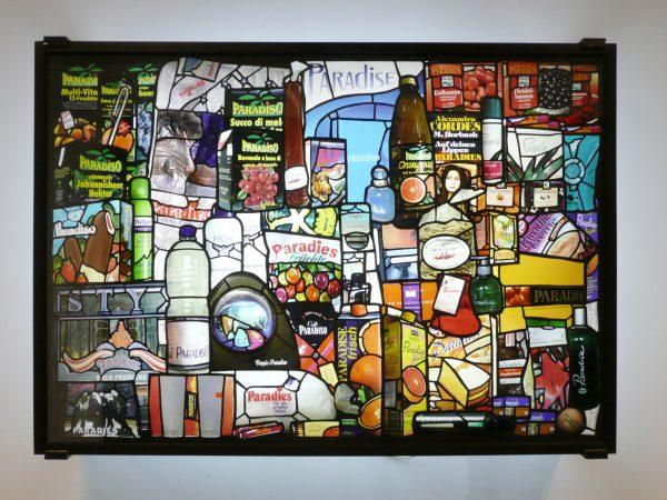 """Miguel Rothschild, """"Paradise I"""", 2005 - photographie couleur sur Duratrans, carton, tubes de néon, acier - Collection Géotec, achat 2006"""