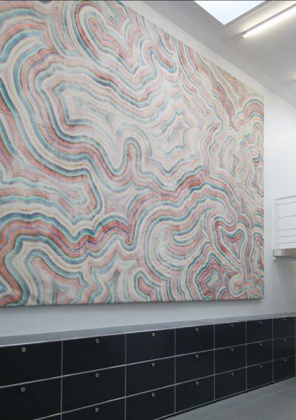 Bernard Frize, Sans titre, 1988-2003 - acrylique et résine sur velum - Collection Géotec, achat 2008